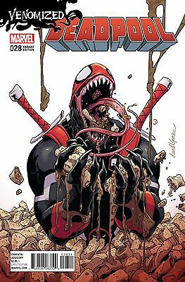 DEADPOOL #28 [2015] - NM+ David Lopez 'Venomized' VARIANT - Marvel Comics