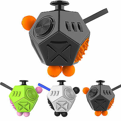 6 /12 -side Fidget Cube Toy Anxiety Stress Attention Relief Puzzle Adult Kids