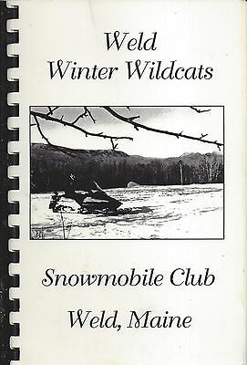 Weld Me Vintage Snowmobile Club Cookbook Winter Wildcats Maine Community Recipes
