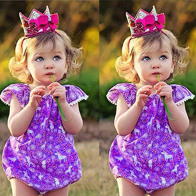Toddler Newborn Baby Girl Floral Romper Summer Jumpsuit Bodysuit Outfit  Sunsuit