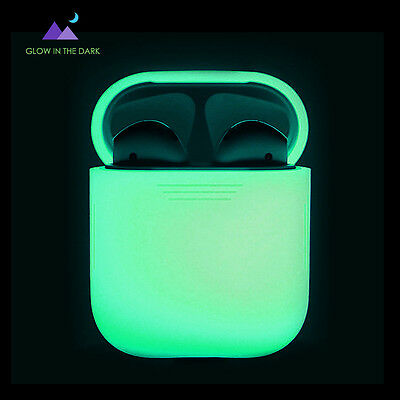 AirPods Silicone Case,AhaStyle Scratch Proof Protective Cover[Nightglow Green]