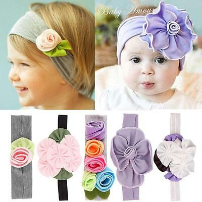 Lovely Bow Newborn Toddle Flower Baby Knot Hair Band Turban Headband
