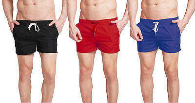Mens Swim Shorts Trunks Swimwear Side Pockets Beach Sports Summer Quick-drying