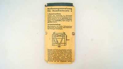 "Ww2 German Instruction For Radio Recording ""handladesatz"""