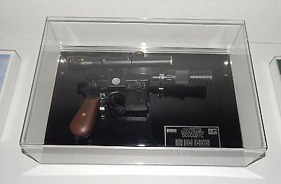 Star Wars Han Solo Luke Skywalker Blaster Prop Acrylic Display Case