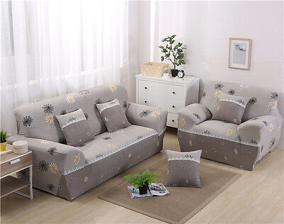 Spandex Stretch Floral Sofa Cover Couch Protector for 1 2 3 4 seater TAUL fr