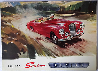 1953 Sunbeam-Talbot Alpine Mk. 1 Special Original Sales Brochure Drop Head Coupe