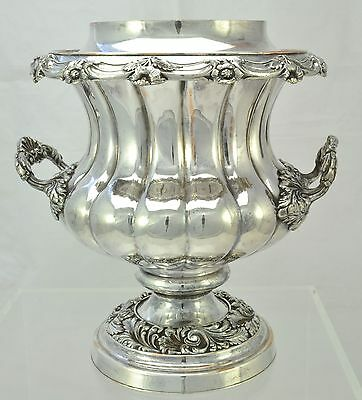 Antique Old Sheffield Silver Plate William IV Lobed Wine Cooler OSP c 1835