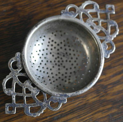 antique silver plate  TEA STRAINER