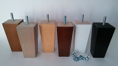 4 x WOODEN FURNITURE FEET/LEGS REPLACEMENT FOR SOFA, CHAIRS,STOOLS, CHEST M8/M10