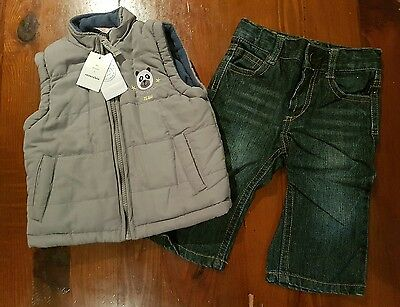 Boys Pumpkin Patch puffer vest jacket jeans bulk winter baby BNWT EUC size 0