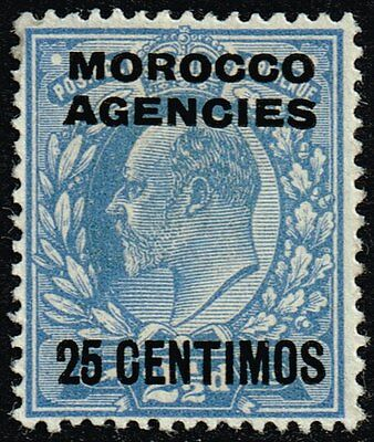 Morocco 1912 25c. on 2½d. dull blue, MH (SG#124a)