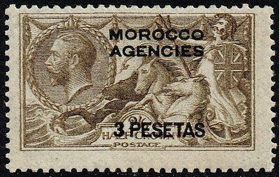 Morocco 1918 3p. on 2s.6d. grey-brown (DLR), MH (SG#139)