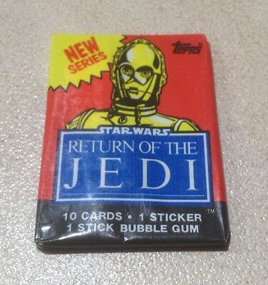 "1983 Topps ""Return of the Jedi - Series 2"" - Wax Pack (C3PO Variation)"