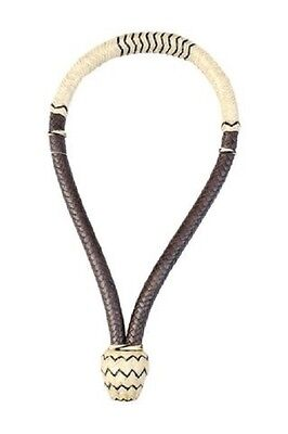"Western White and Brown Softy  5/8"" Rawhide Braided Bosal"