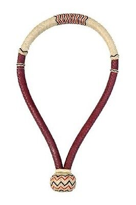 "Western Natural and Tan Softy Rawhide Braided  5/8"" Bosal"
