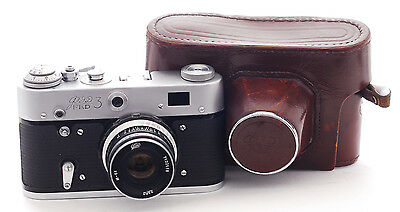VINTAGE FED 3 Camera  with a 52mm f2.8 lens (1036)