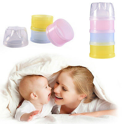 3 Layers Milk Powder Case Formula Dispenser Kids Baby Infant Feeding Container