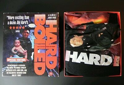 Super Rare JOHN WOO HARD BOILED Collectors VHS Box With NEW T-SHIRT XL 90'S Find
