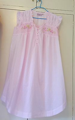 Women's Sleepwear Victoria's Dream Size M Pink Smocking Cotton New Nightie