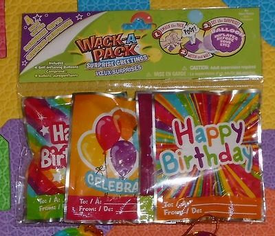 Lot Of 12 Pc Wack-A-Pack Happy Birthday Self-Inflating Mini Foil Balloons