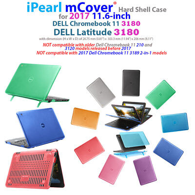 "NEW iPearl mCover® Hard Shell Case for 2017 11.6"" Dell Chromebook 11 3180 laptop"
