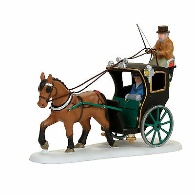 Dept 56 Christmas Dickens Village Holiday Cab Ride New 2017 4056638