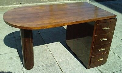bureau art deco desk bois exotique moderniste