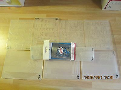 SIZZIX EMBOSSING FOLDERS - NEW & USED -  99p each - POSTAGE DISCOUNT AVAILABLE