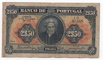 Portugal 2.5 2$50 Escudos 1922 Pick 127 Look Scans