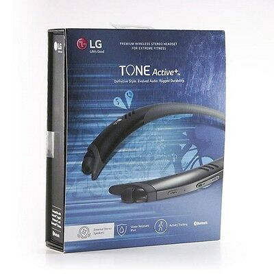 Brand New LG Tone Active Plus HBS-A100 Bluetooth Wireless Stereo Headset - Black