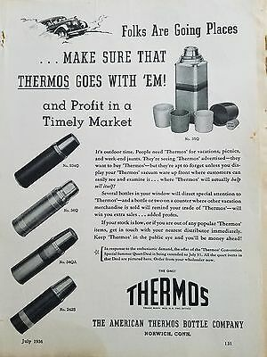 1936 American Thermos bottle 5 Styles vintage ad