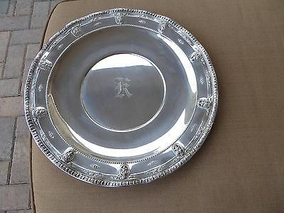 """Rosepoint by Wallace 18"""" Round Sterling Tray #4381"""