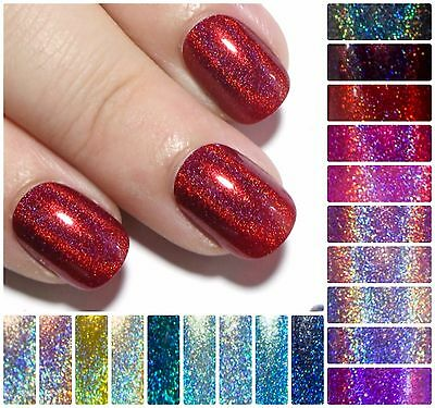 Petite Holographic False Fake Press On Acrylic Artificial Glue On Faux Nails