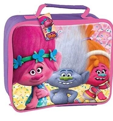 Trolls Lunch Bag With Zip & Handle School Pack Lunch Kids Picnic Bag Gift