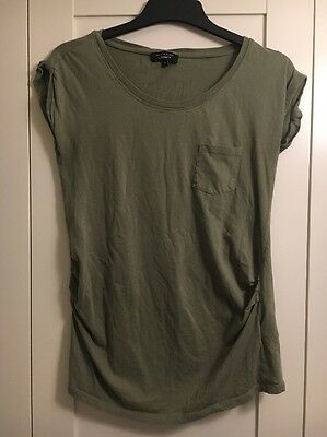 Khaki Green New Look Maternity Top T-shirt 8