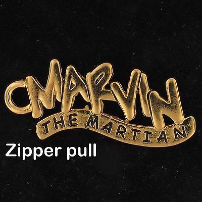 ZIPPER PULL Marvin The Martian NAME WARNER BROS LOONEY TUNES Gold WB STORE 4244A