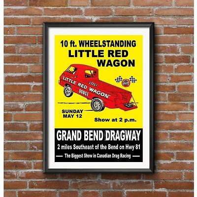 Little Red Wagon-Grand Bend Dragway 1964 Event Poster-NHRA Vintage Drag Racing