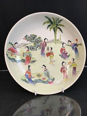 Antique Chinese large plate or charger with 6 characters mark . no reserve