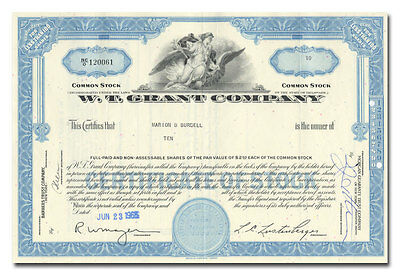 W. T. Grant Company Stock Certificate (Early 25 Cent Store)
