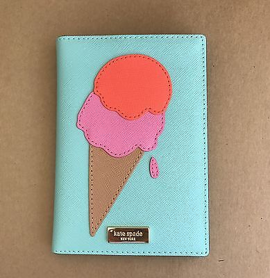 Kate Spade Imogene Flavor of the Month Ice Cream Ice Pop Passport Holder NEW
