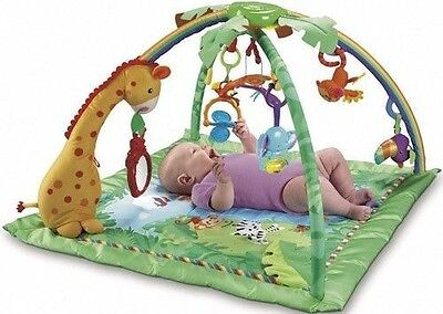 Baby Gym Fisher-Price Rainforest Melodies & Lights Deluxe Jungle Gym For Babies