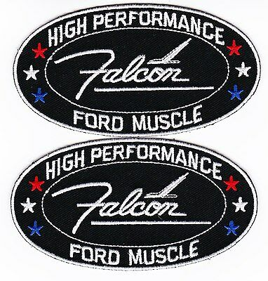 2 Ford Falcon Sew/iron On Patch Embroidered Emblem Badge T-Shirt Jacket Car