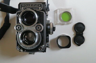 Rolleiflex 3.5F TLR with 75mm Zeiss Planar + Extras
