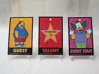 The Simpsons Global Fanfest Event Credentials (Set of 12)