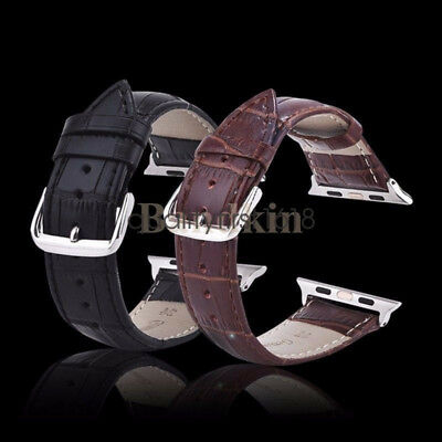 Genuine Leather Buckle Wrist iWatch Band Strap Belt for Apple Watch Series 4 3 2