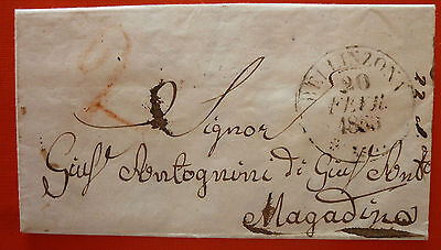 Switzerland 1860 Free Stamps Letter from Bellinzona to Magadino - 2C