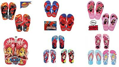 Children's Boys/Girls Beach Summer Flip Flops Sandals Slippers Character Swim