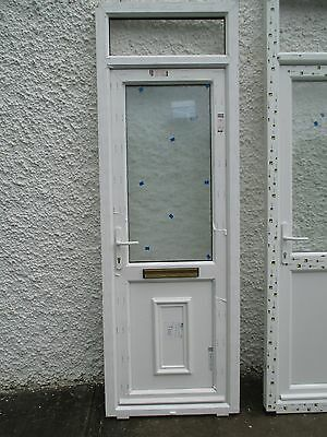 new upvc door and frame double glazed