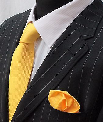 Tie Neck tie with Handkerchief Yellow